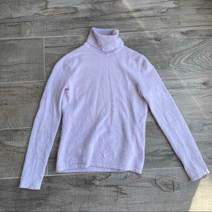 Aritzia wool/mohair blend lilac pastel turtleneck